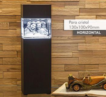 Coluna de Luz NOBRE(H) para *cristal 130x100x90mm -Horizontal-