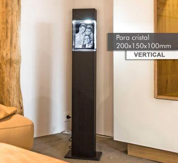Coluna de Luz MAGNO(V) para *cristal 200x150x100mm -Vertical-