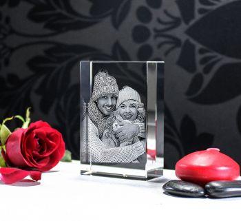 Foto 2D Esculpida em Vidro - 90x60x30mm - Pequena
