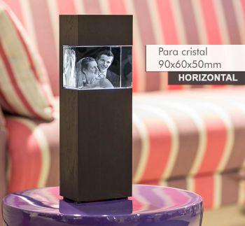Coluna de Luz NANICO(H) para *cristal 90x60x50mm -Horizontal-